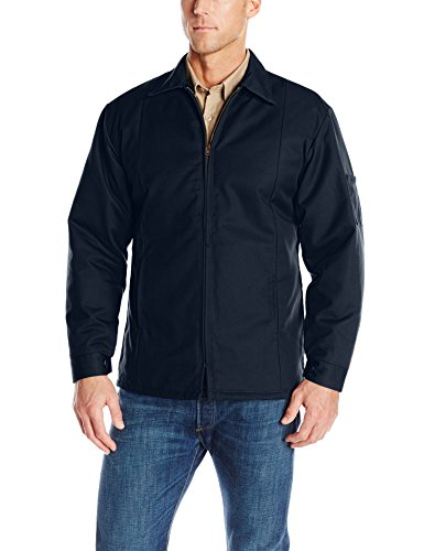 Red Kap Men's Perma-Lined Panel Jacket, Navy, Medium