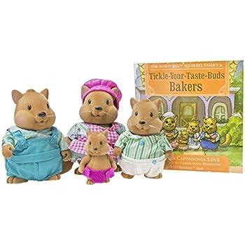 Lil Woodzeez Bushytails Squirrel Family Set With Storybook