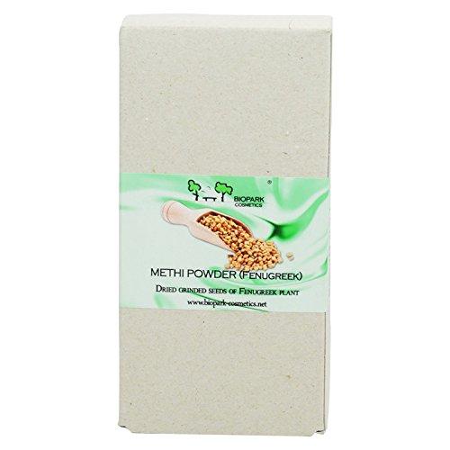 BIOPARK - Fenugreek Methi Powder - Skin and Hair Care Ayurvedic Powder Recipe - 100% Organic - 100 gr