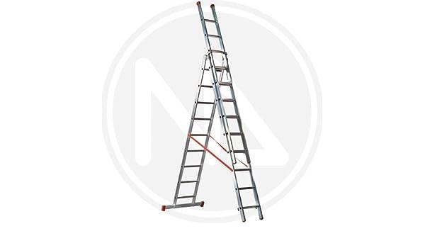 Escalera Convertible Triple Aluminio FACAL 3 x 12 Peldaños: Amazon.es: Bricolaje y herramientas