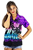 Funky Hawaiian Shirt for Women, Beach, Purple, M