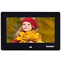 Kenuo Digital Picture Frame 1280 x 800 HD LED Screen with Calendar, MP3/Photo/Video Player with Remote Control