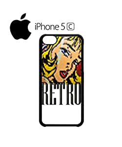 Retro Girl 8 Bit 90's Mobile Cell Phone Case Cover iPhone 5c White by mcsharks