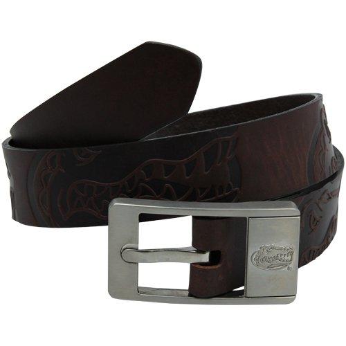 NCAA Florida Gators Brandish Leather Belt - Brown (32)