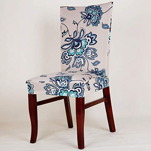 WEEFORT 1 Pc Butterfly Plants Dining Chair Cover Spandex Elastic Slipcover Removable Cartoon Kitchen Seat Case