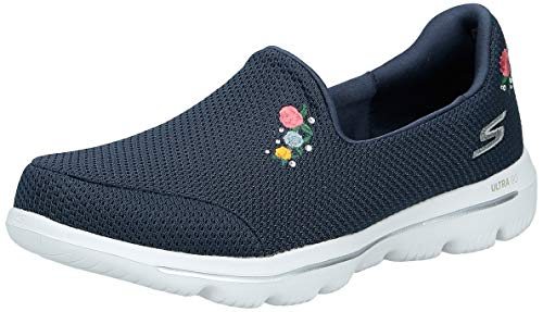 Skechers Women's GO Walk Evolution Ultra-Satisfaction Sneaker, Navy, 9 M US