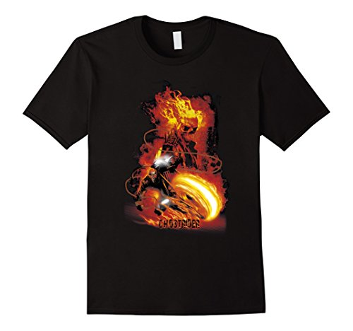 Rider Ghost - Mens Marvel Ghost Rider Fire Fury Graphic T-Shirt Adult 3XL Black