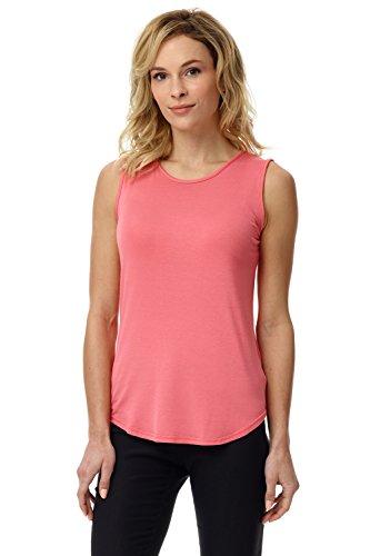 Rekucci Women's Soft Jersey Knit Sleeveless Tank Top (S-XXL) - Peach Camisole