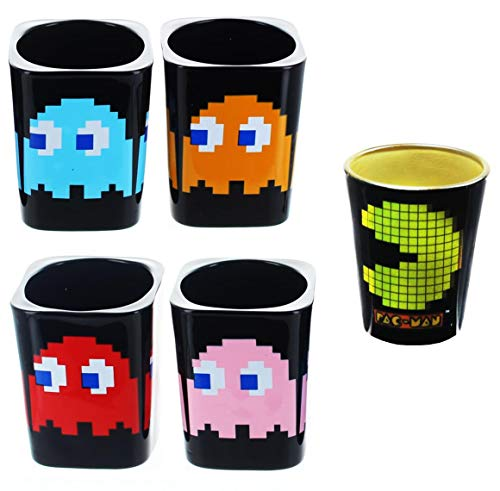 Pac-Man Shot Glass Bundle, Set of 5 for sale  Delivered anywhere in USA