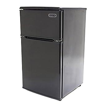 Amazon.com: Premium Mini Fridge Appliances with Freezer Top Compact ...