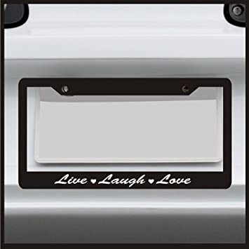 Amazon.com: Sticker Connection | Live Laugh Love | License Plate ...