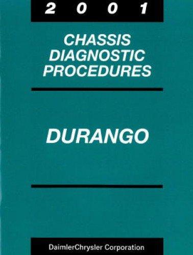 81-699-01024 Dodge Durango Chassis Diagnostic Procedures Manual 2001 Used