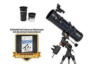 Celestron AstroMaster 130EQ - Telescopio newtoniano con Motor y trípode de Acero