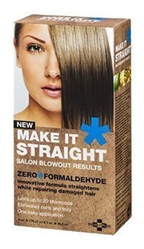 Developlus Make It Straight Salon Blowout Results 6oz & 1oz (Permanent Hair Straightening Products For Curly Hair)