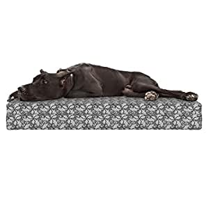 Amazon.com : Lunarable Grey Abstract Dog Bed, Classical