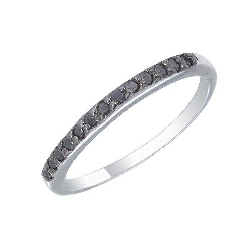 Black Diamond Eternity Rings - 5