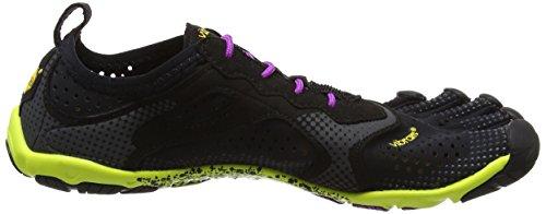 Vibram Fivefingers V-Run, Scarpe da Corsa Donna Viola (Black/Yellow/Purple)