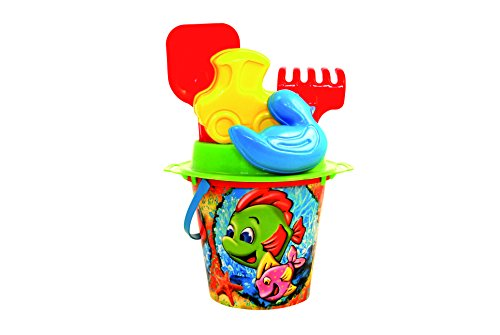 Disney Castle Carousel - ADRIATIC 18 x 28 cm Beach Toys Mimi Lithography Bucket with Mould