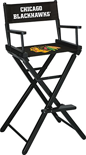 Imperial Officially Licensed NHL Merchandise: Directors Chair (Tall, Bar Height), Chicago Blackhawks
