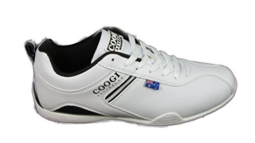 Coogi Men's Cooper White/Black Sneaker 7 D M US