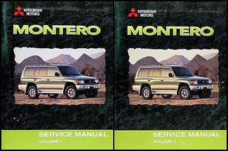 (2000 Mitsubishi Montero Repair Shop Manual Set)