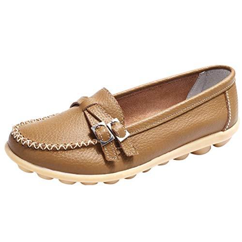 Femme 2 Mallimoda Mocassins Kaki À Style Confortables Décontractés Flat Franges Chaussures BdzOxdqSZW