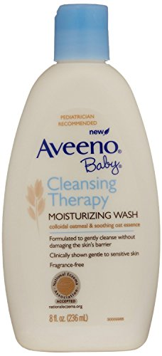 Aveeno Baby Cleansing Therapy Moisturizing Wash, 8 Ounce Pac