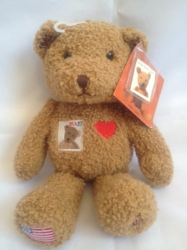 (Collectible Centennial Stamp Teddy Bear 9 Inch Plush by United States Postal Service)