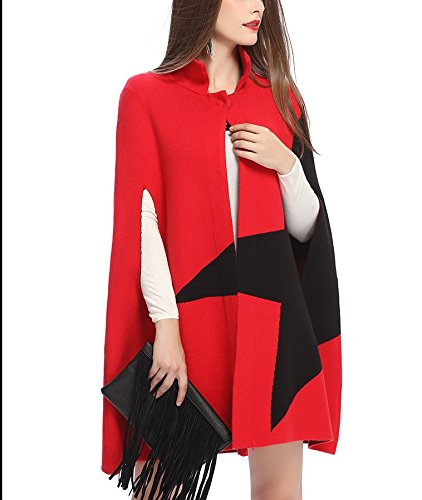 FOLOBE Red Poncho Poncho Poncho Red FOLOBE FOLOBE Femme Red Red Femme Poncho Femme Femme FOLOBE 6ArqzW76