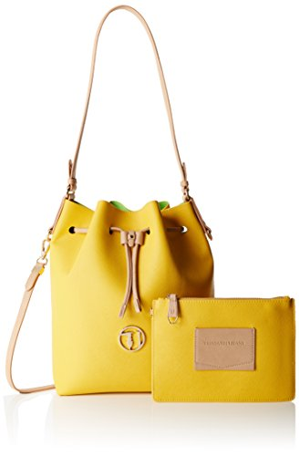 TRUSSARDI JEANS by Trussardi 75bp0453 - bolso cubo Mujer Multicolore (Yellow/Green)