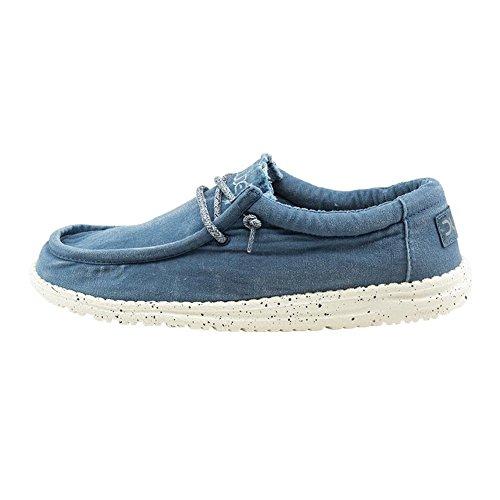 Hombres Azul Lavado Shoes ACERO Dude Wally Azul qz6CYw