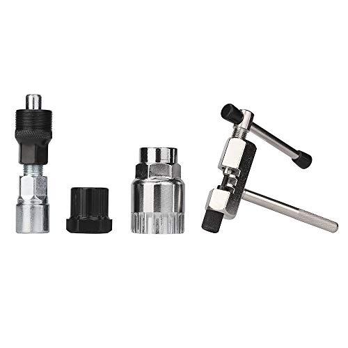 (Toxz 4PCS Mountain Bike Repair Tool Kit Bicycle Tools,Remove The Flywheel/Chain Cutter Breaker/Axis Tool/Crank Puller Removal Repair Tool/Bicycle Bottom Bracket Remove Tool)