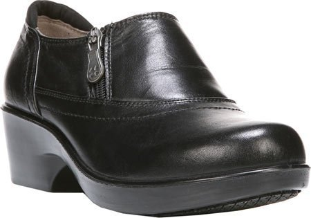 Naturalizer Women's Florence Closed-Back Clog,Black Leather,US 7.5 W