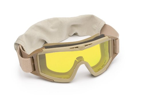 Revision Military Desert Locust Goggle Basic - Yellow High-Contrast Lens - Desert Tan