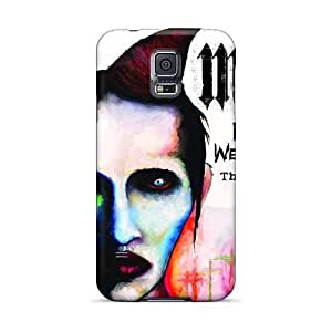 Perfect Hard Phone Covers For Samsung Galaxy S5 (btx10578SpHp) Customized Vivid Marilyn Manson Band Image