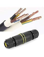 Aansluitdoos Kabelconnector, 2 STUKS IP68 waterdichte connector 3-aderige buitenkabel Waterdichte connector, verlengsnoer Veiligheidszegels 2 stuks