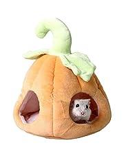 ANIAC Pet Winter Pumpkin House Winter Nest Warm Bed for Guinea Pigs Hamster Rat Chinchillas Hedgehog Sugar Glider Squirreland Small Animals