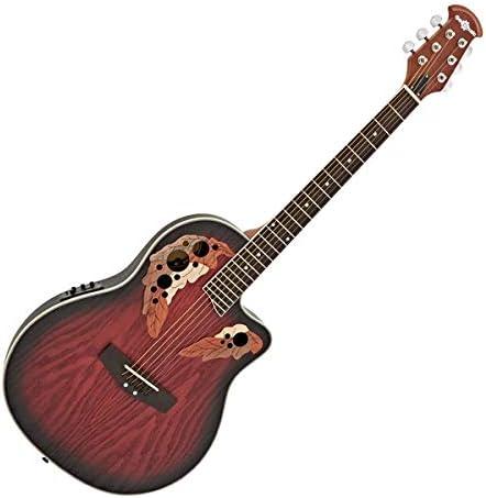 Guitarra Electroacustica Deluxe Roundback by Gear4music Red Burst