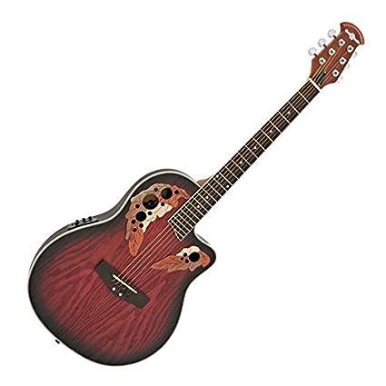 Guitarra Electroacústica Deluxe Roundback de Gear4music Red Burst