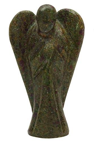 - Harmonize Ruby Kyanite Stone Carved Angel Reiki Healing Crystal Spiritual Gift Guardian Energy Generator