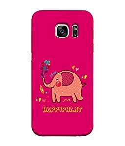 ColorKing Samsung S7 Case Shell Cover - Happyphant Multi Color