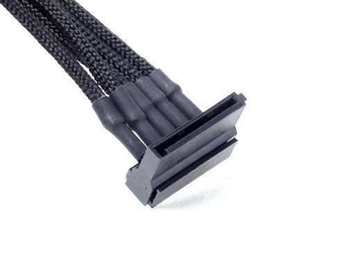 Silverstone Tek Sleeved 4x SATA Cable (PP06B-4SATA10)