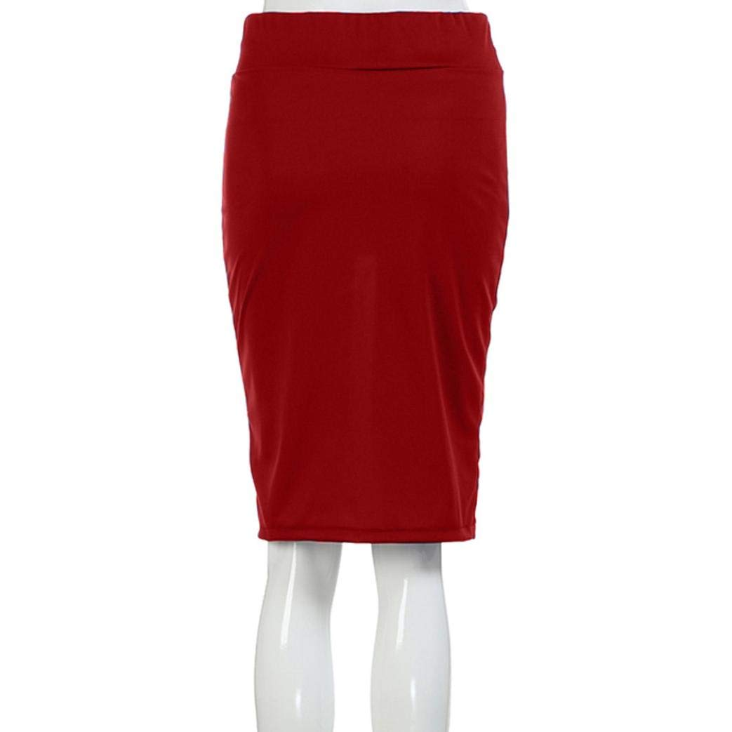 iYYVV Women High Waist Skinny Stretchy Bodycon Knee-Length Pencil Office Hip Skirt by iYYVV (Image #4)
