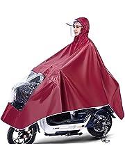 Waterdichte fietsponcho, lichtgewicht en compact, winddicht regenjas manteljack met capuchon, universeel voor mannelijke en vrouwelijke volwassenen, herbruikbaar