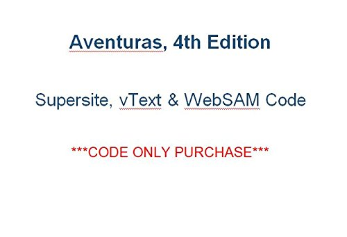 Download Aventuras 4th bundle CODE for Supersite, vText and webSAM + Practice Partner App (CODE ONLY) PDF
