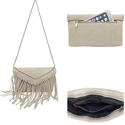 Hobo Lightweight Satchel PU Wallet Bag Travel Handbag Bag Ladies Rice Tassel Shoulder Handbag Crossbody Derkia La Messenger Tote Pouch Purse Organiser XtEwYqFxE