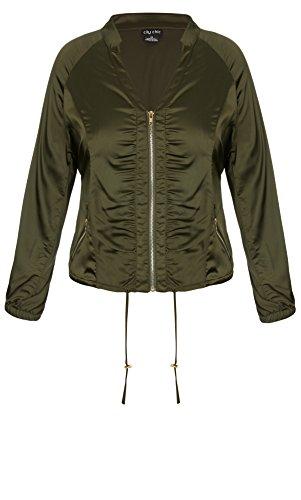 Designer Plus Size JKT JUNGLE HEAT - Olive - 16 / S | City Chic