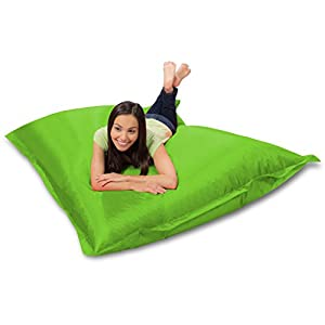 Huge Bean Bag Pillow for Playing Video Games & Watching TV, Lime