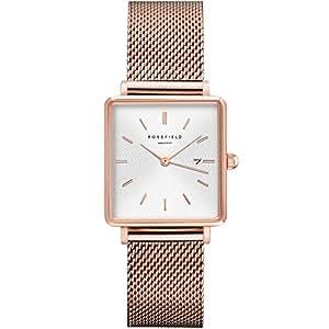 Rosefield Reloj Analógico para Mujer de Cuarzo con Correa en Acero Inoxidable QWSR-Q01: Amazon.es: Relojes
