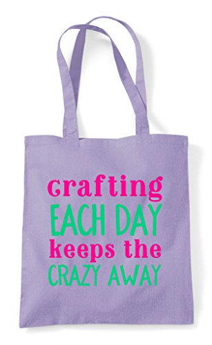 Lavender Crafting Away Day Craft Bag Each Statement Crazy The Shopper Keeps Tote wBZF1cTwq